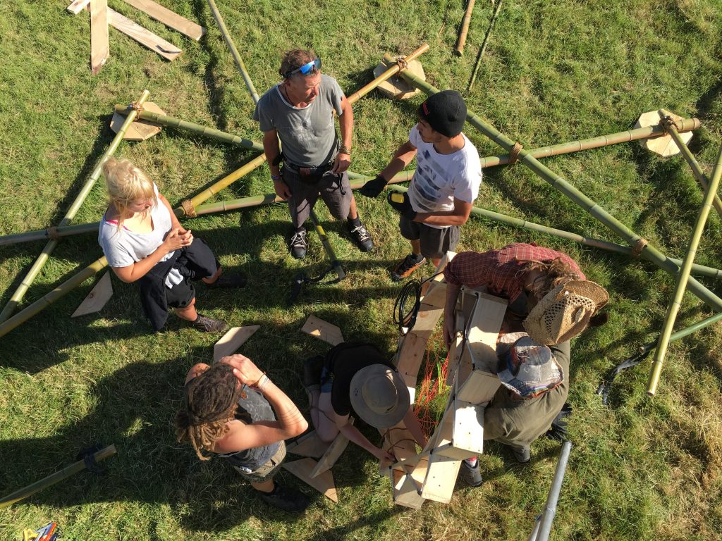 the build crew, seen from above
