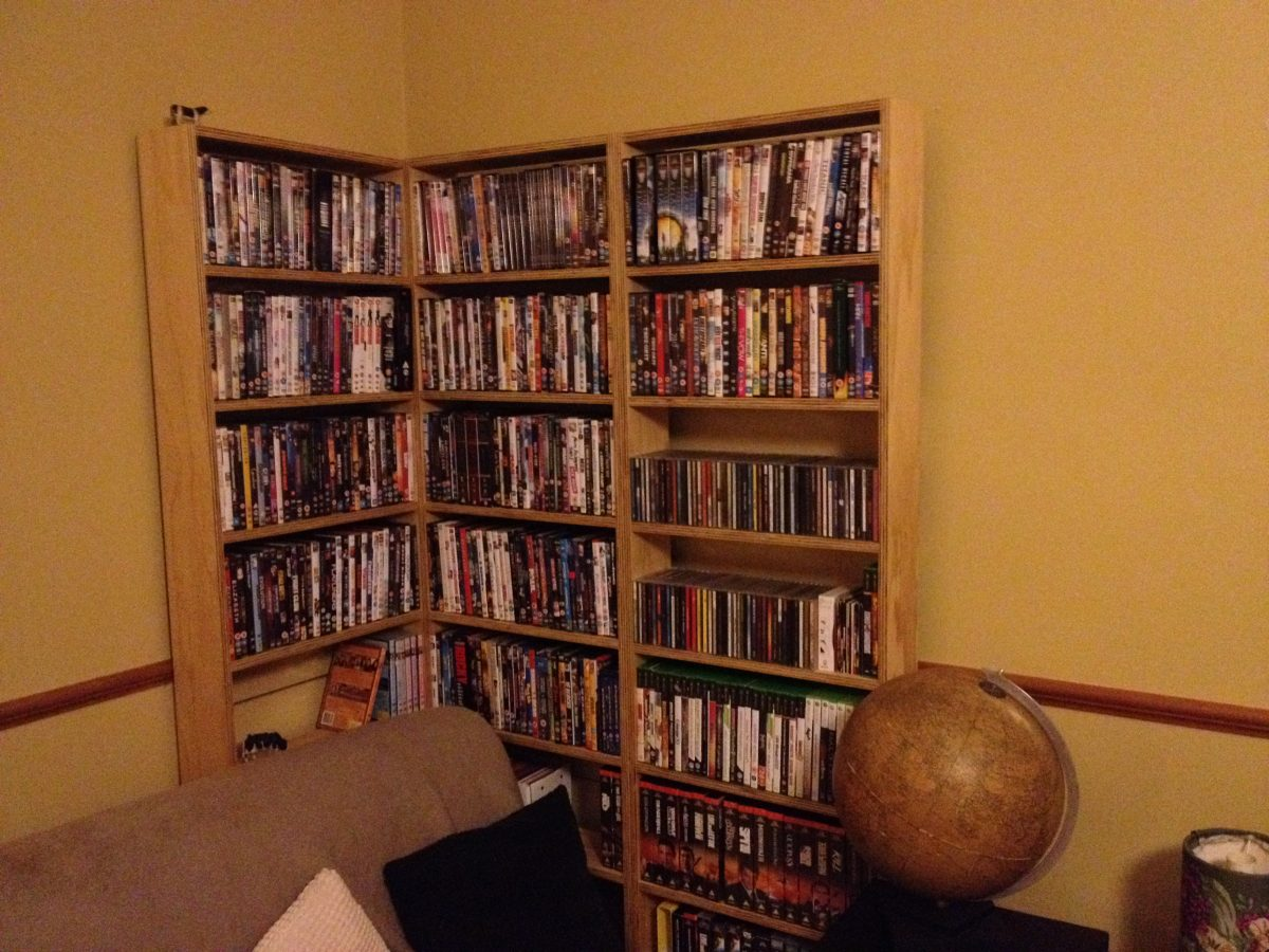 Custom DVD Shelves